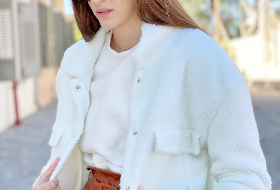 Chunky monkey coat white
