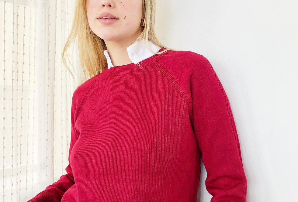 Sunshine knit top ( bordo)