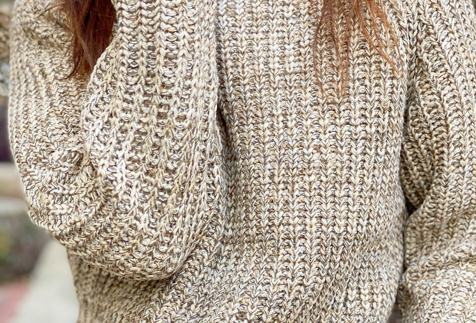 Samanta knit mix brown