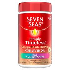Seven SeasCod Liver Oil plus Multivitamins 30 Capsules