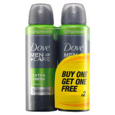 DOVE MEN+CARE EXTRA FRESH ANTIPERSPIRANT SPRAY TWIN PACK