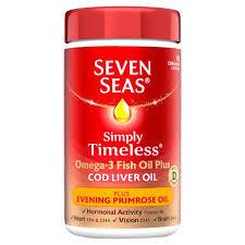 Seven Seas Omega-3 Fish Oil Plus Cod Liver Oil Plus Evening Primrose Oil 90 Caps