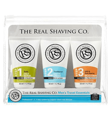 The Real Shaving Company The Real Shaving Co. Men's Travel Essentials 3 x 50ml