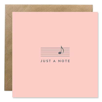 CARD - JUST A NOTE BLUSH PINK