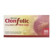 Clonfolic 98 tablets