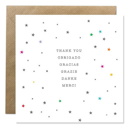 CARD - WORD SERIES - THANK YOU