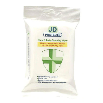 JD Protects Anti Viral Hand Sanitising Wipes