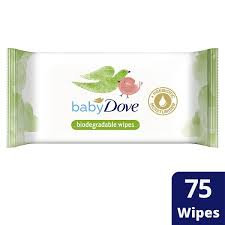 Baby Dove Biodegradable Baby Wipes, single pack 75 wipes