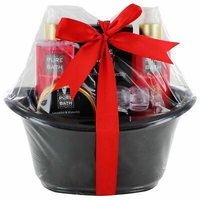 Ladies Bath & Body Beauty Shower Lavender & Waterlily Gel Gift Set Pure Bath