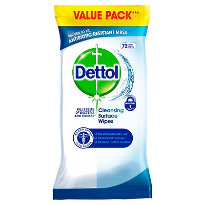 Dettol Antibacterial Surface Wipes (72 Piece)