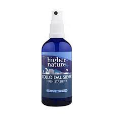 HIGHER NATURE Colloidal Silver Natural anti-septic spray