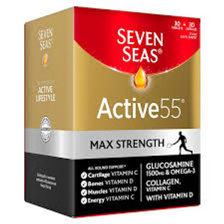 Seven Seas Active 55 Max Strength 30 Tablets & 30 Capsules