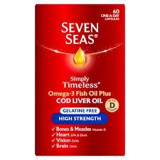 Seven Seas Cod Liver Oil High Strength 60 Capsules