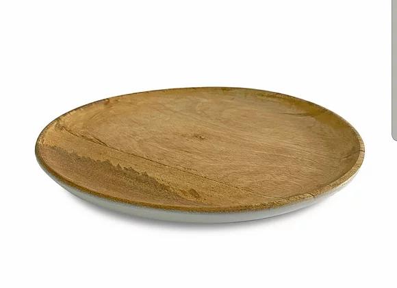 מגש איינגליש קייק עגול עץ מנגו