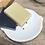Thumbnail: כלי סבון עץ עגול ציפוי לבן