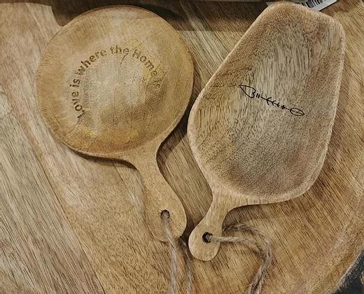 כלי עץ טבעי קטן