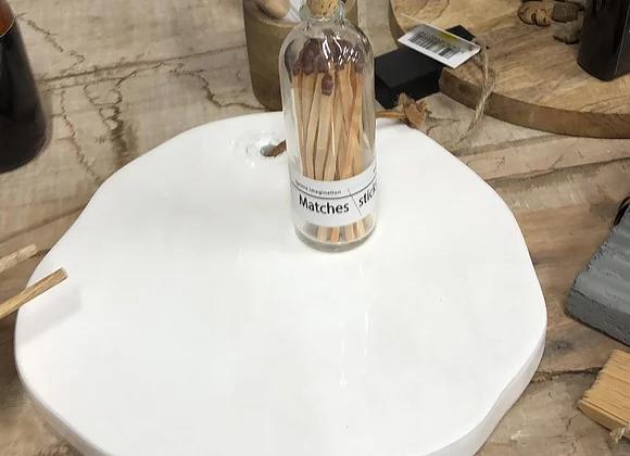 פלטת עץ ציפוי לבן אמורפי
