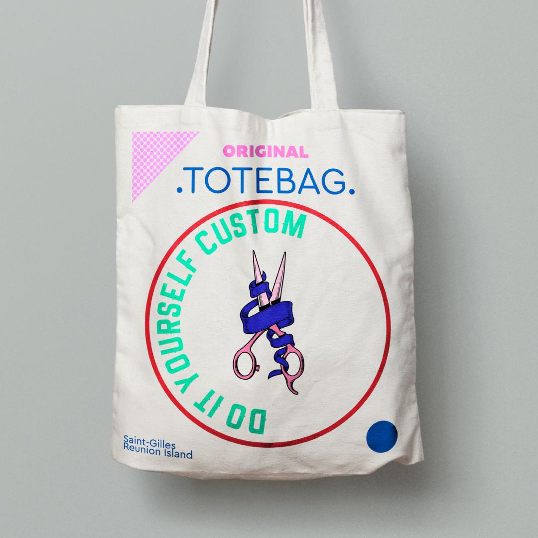 Originalshop Events Emma Tote Blue Print Diy Workshop Bag Saint Gilles