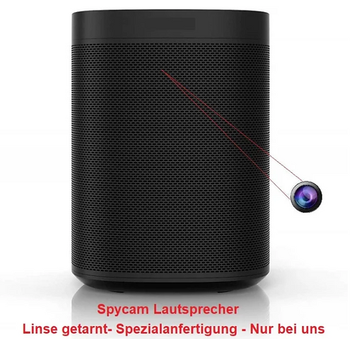 NEU & DISKRET! Hochwertiger Lautsprecher Spion Kamera/Linse nicht sichtbar