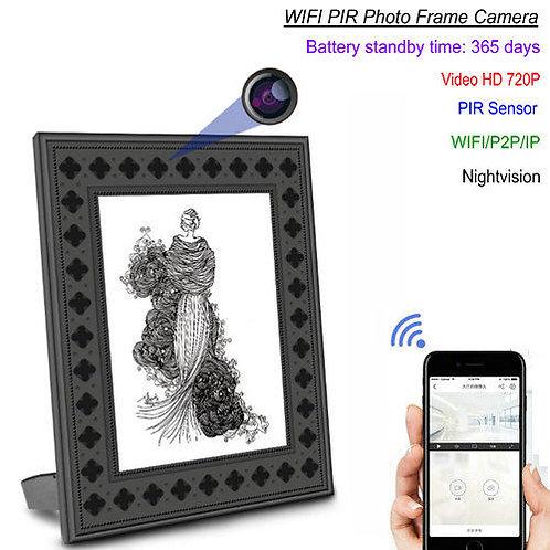 Bilderrahmen Wlan HD-Überwachungskamera, PIR, Nachtsicht, 2 Jahre Stand-by