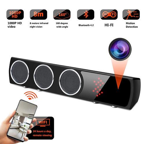 Bluetooth Lautsprecher Wlan HD Spion Kamera - 160° Winkel - Nachtsicht
