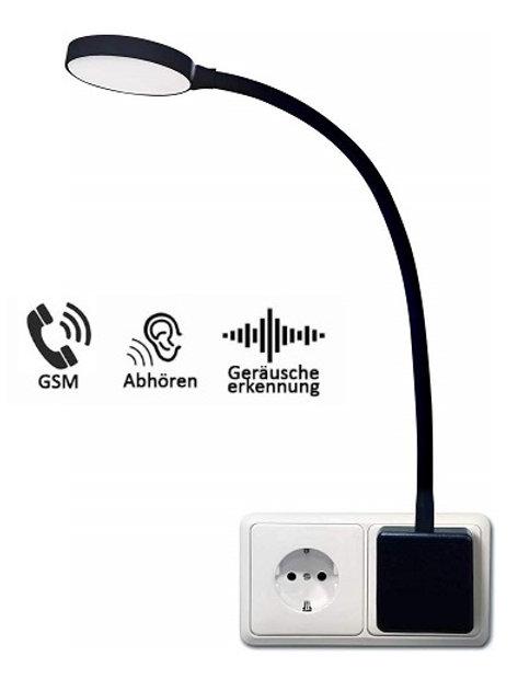 Abhörgerät getarnt als Leselicht-Nachtlicht für die Steckdose