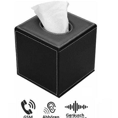 Neu ! Langzeit Abhörgerät Blackbox Plus getarnt als Kosmetiktücherbox