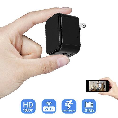 Mini Usb Ladegerät Wifi Spy Cam (EU)- Bewegungserkennung - Weltweiter Zugriff