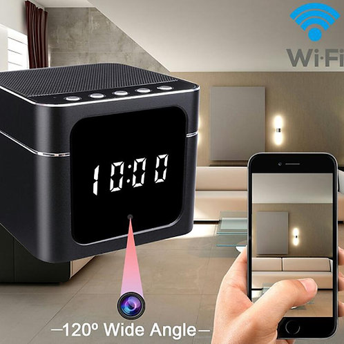 Spion Wlan HD Kamera Nachtsicht - Echtzeit Überwachung - Bluetooth Lautsprecher