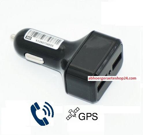 Handy Ladegerät für alle Fahrzeuge mit Echtzeit Gps und Abhörfunktion