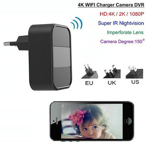 Wlan 4K-HD Kamera für die Steckdose / Dauerbetrieb Nachtsicht