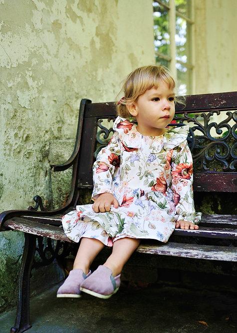 """Bawełniana sukienka """"Radość"""" w kwiaty, jasna"""
