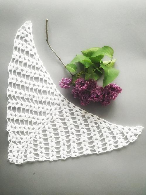 Chusta bawełniana ażurowa, biała