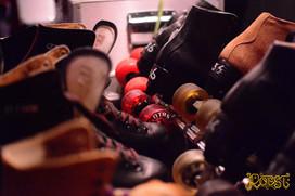 Rollerdisco in de Loods