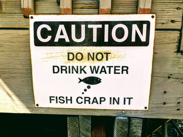 Caution- Fish Poo