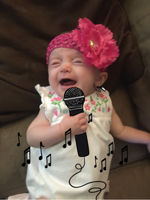 Singing from the depths of her soul