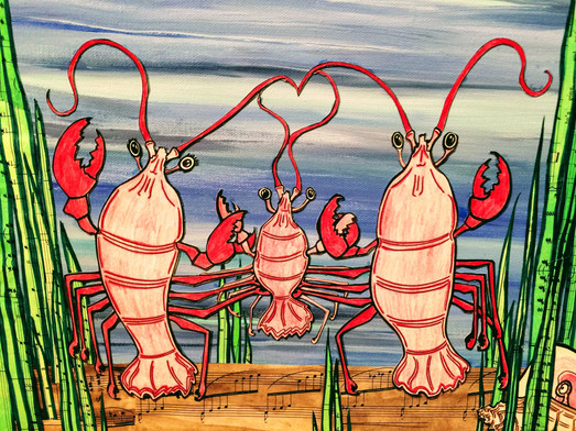 A Happy Little Lobster Family!