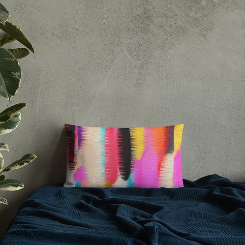Colorful Wide Stripe Premium Pillow