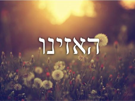 Shabbat Haazinu