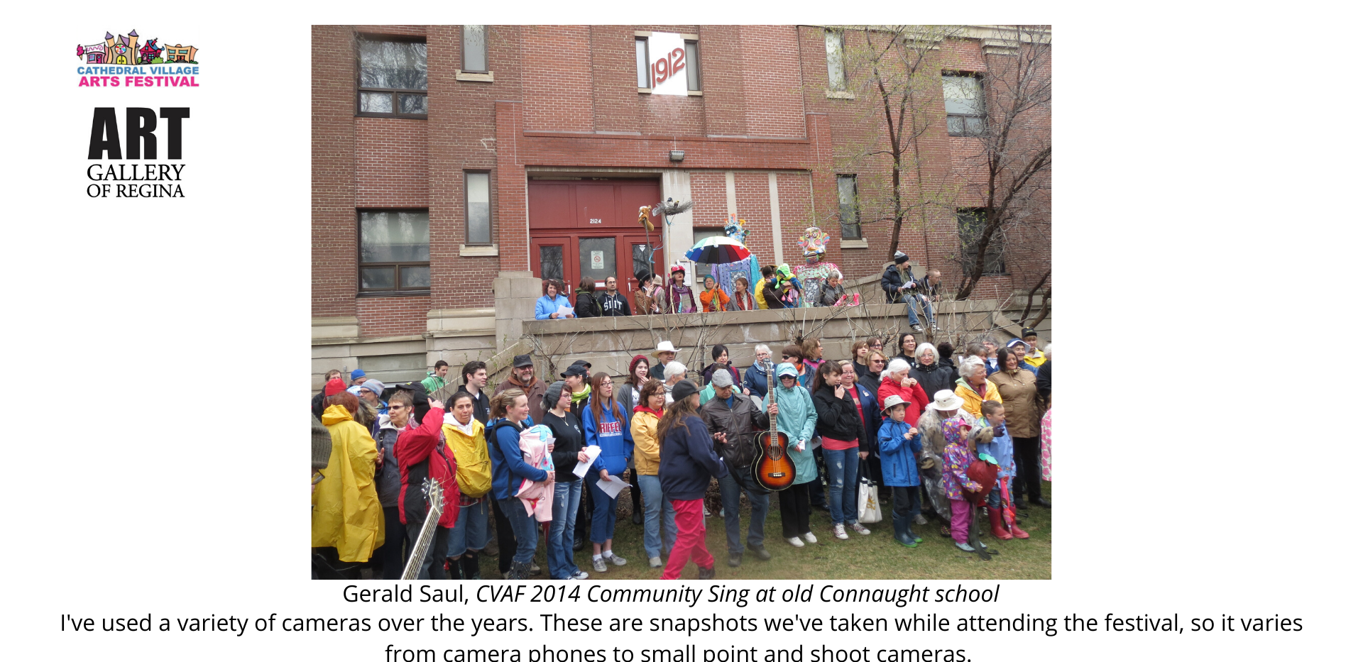 Gerald Saul, CVAF 2014 Community Sing at old Connaught school