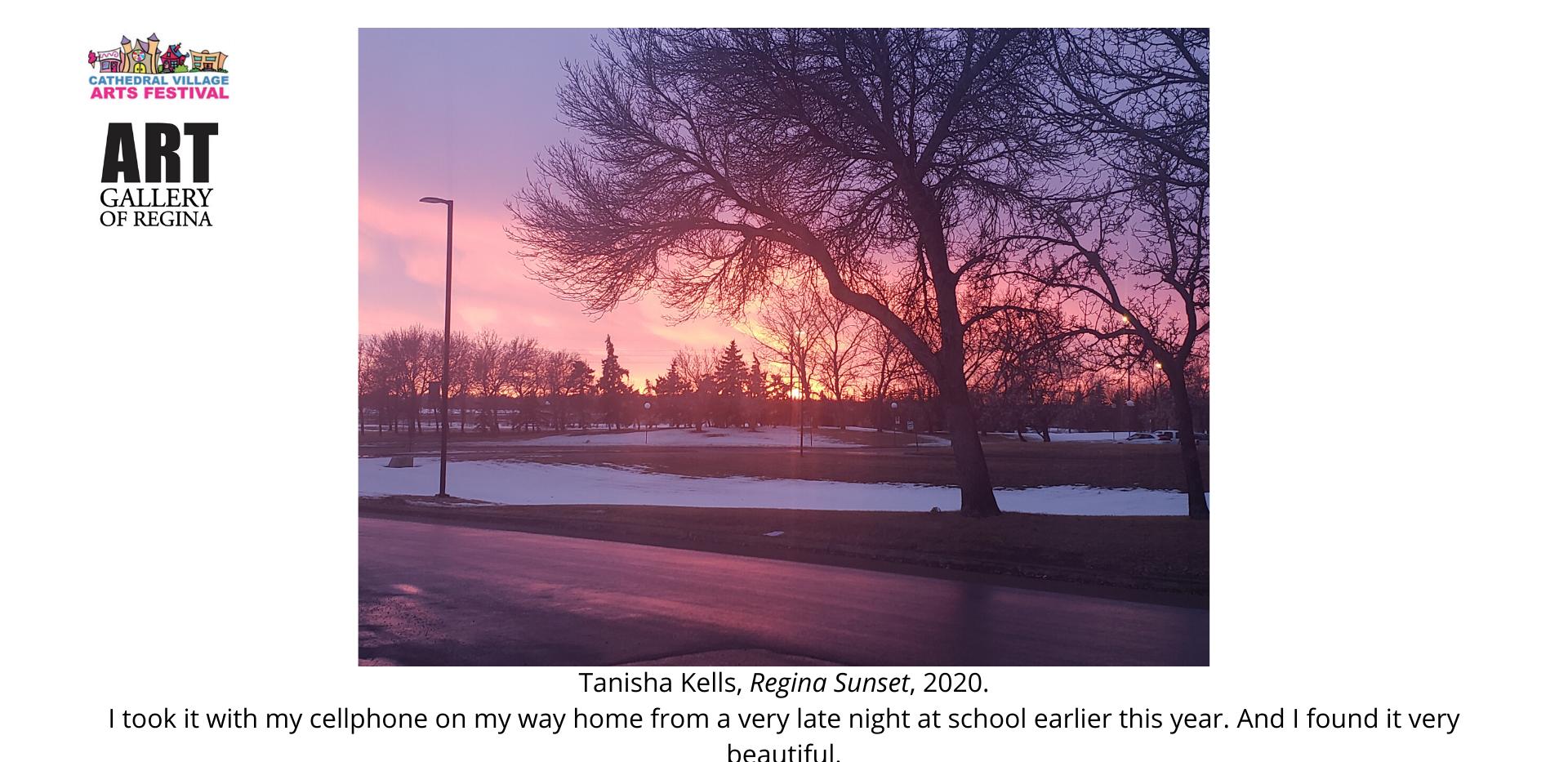 Tanisha Kells, Regina Sunset, 2020.