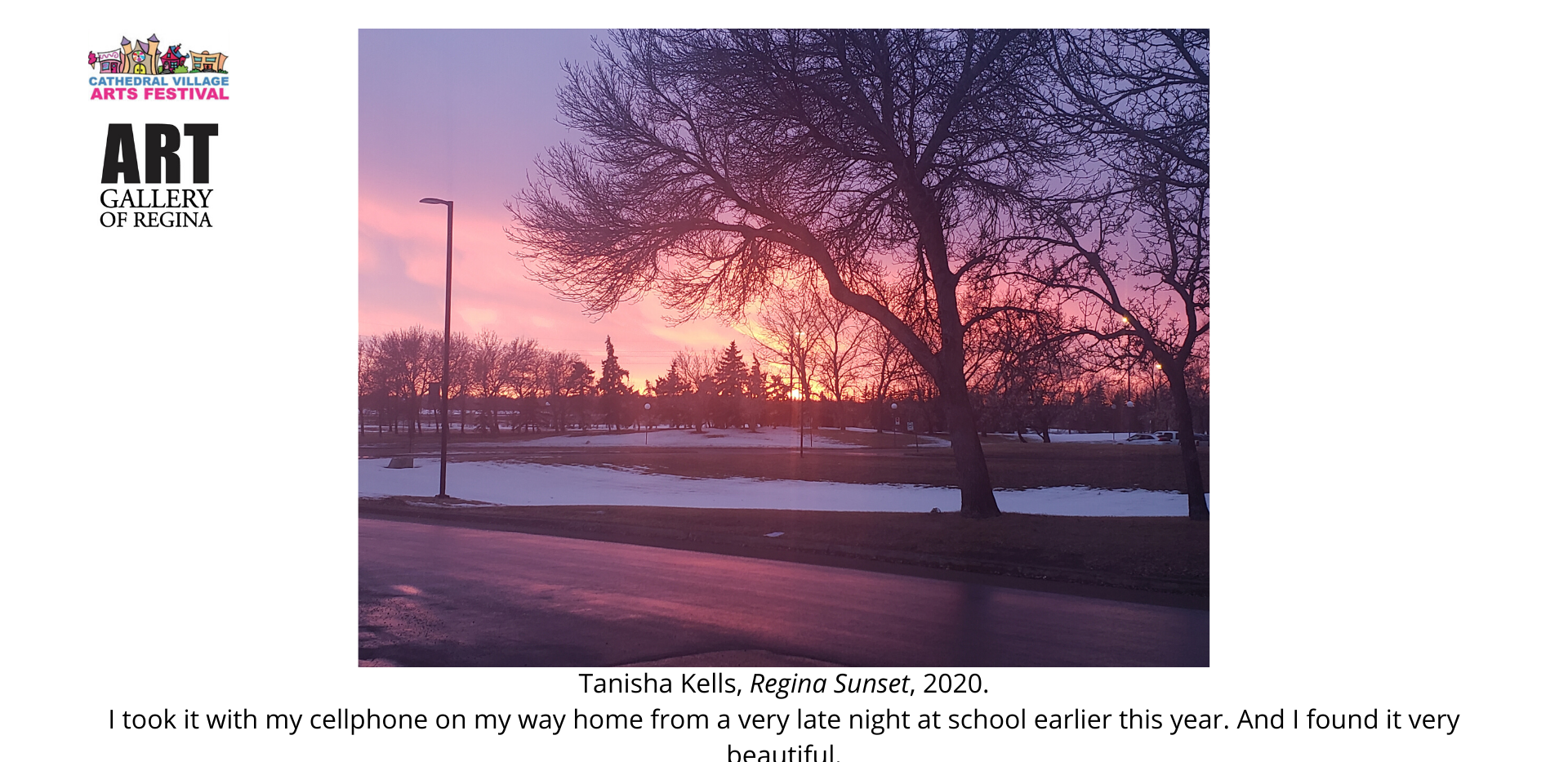 Tanisha Kells, Regina Sunset, 2020.