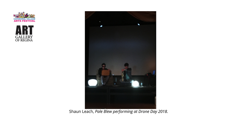 Shaun Leach, Pale Blew performing at Drone Day 2018.