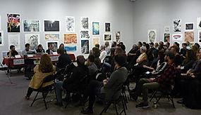 Flatgrafika panel talk - Japan Canada Print Exhibition Art Gallery of Regina 2017