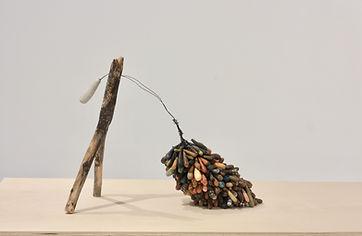 9.Seeker, Tamara Rusnak, wood, clay, wi
