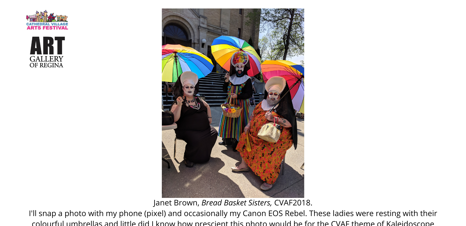 Janet Brown, Bread Basket Sisters, CVAF2018.
