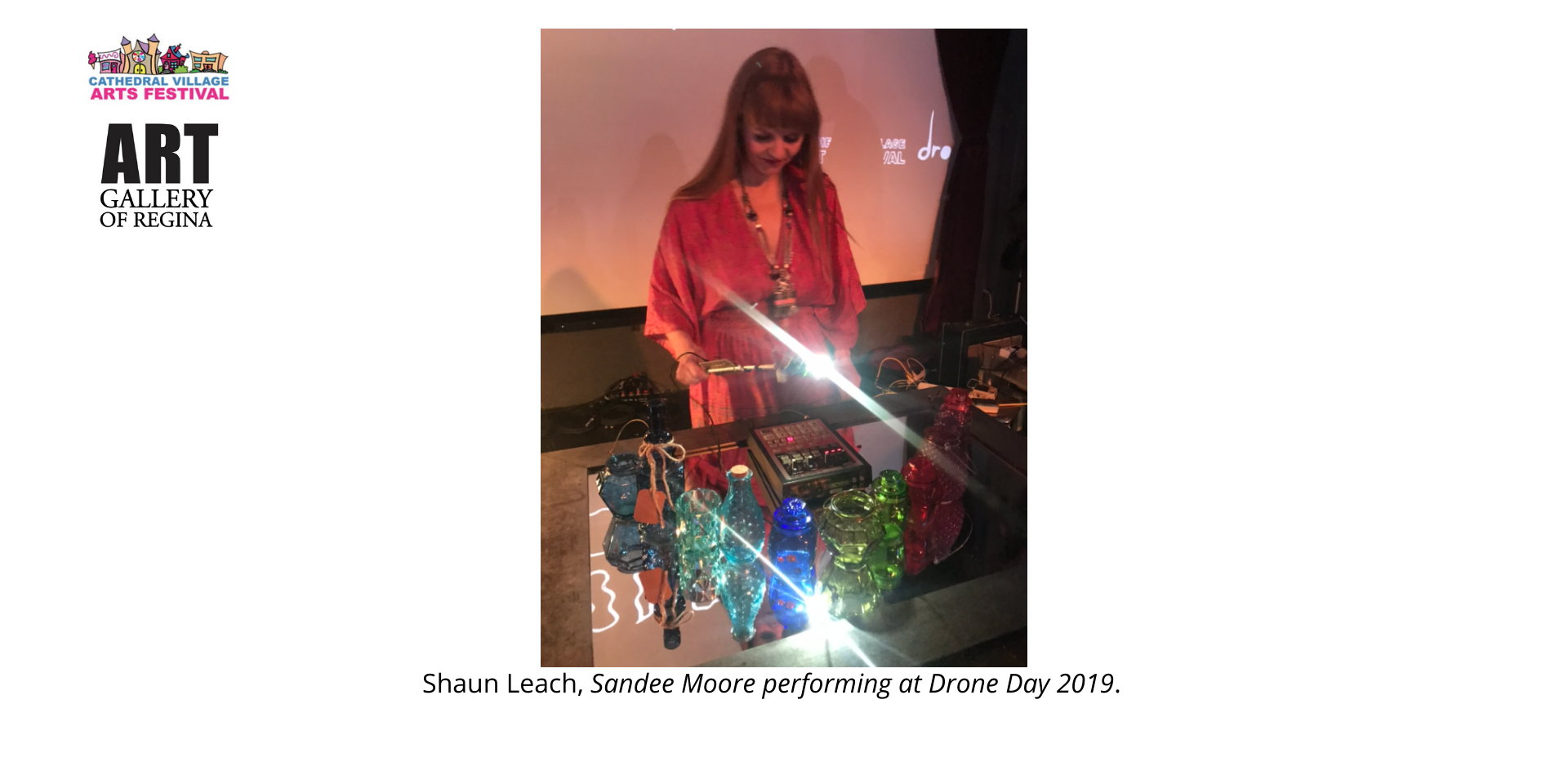 Shaun Leach, Sandee Moore performing at Drone Day 2019.