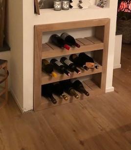 Wijnrek in de nis