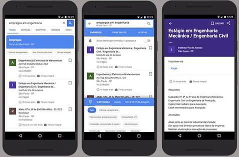 Google lança ferramenta de busca empregos