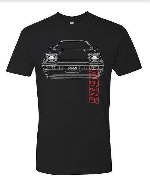 AE86 (HACHIROKU) Original T-shirt Black (BET21)